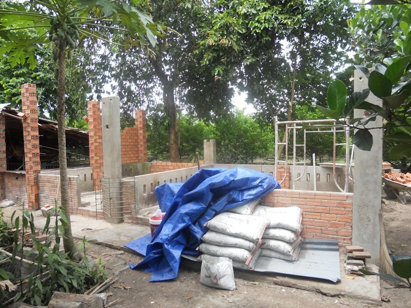 Construction demarree du refuge