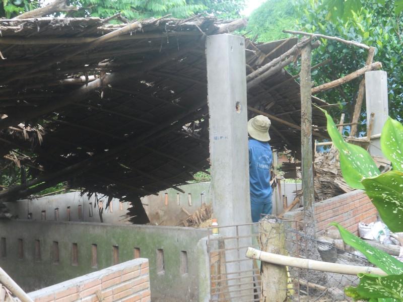 Destruction ancienne batisse